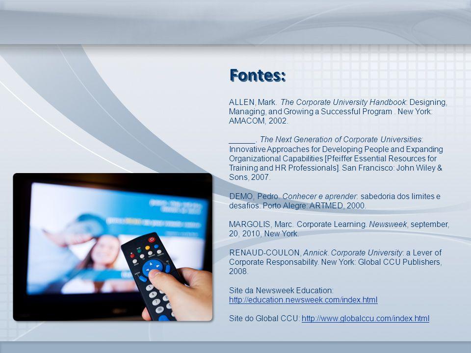 www.fgv.br/fgvonline Fontes: ALLEN, Mark.