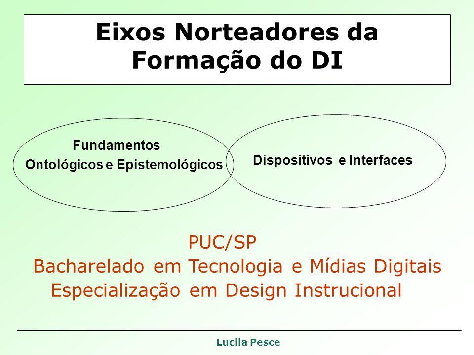 Lucila Pesce Eixos Norteadores da Formação do DI Fundamentos Ontológicos e Epistemológicos Dispositivos e Interfaces PUC/SP Bacharelado em Tecnologia