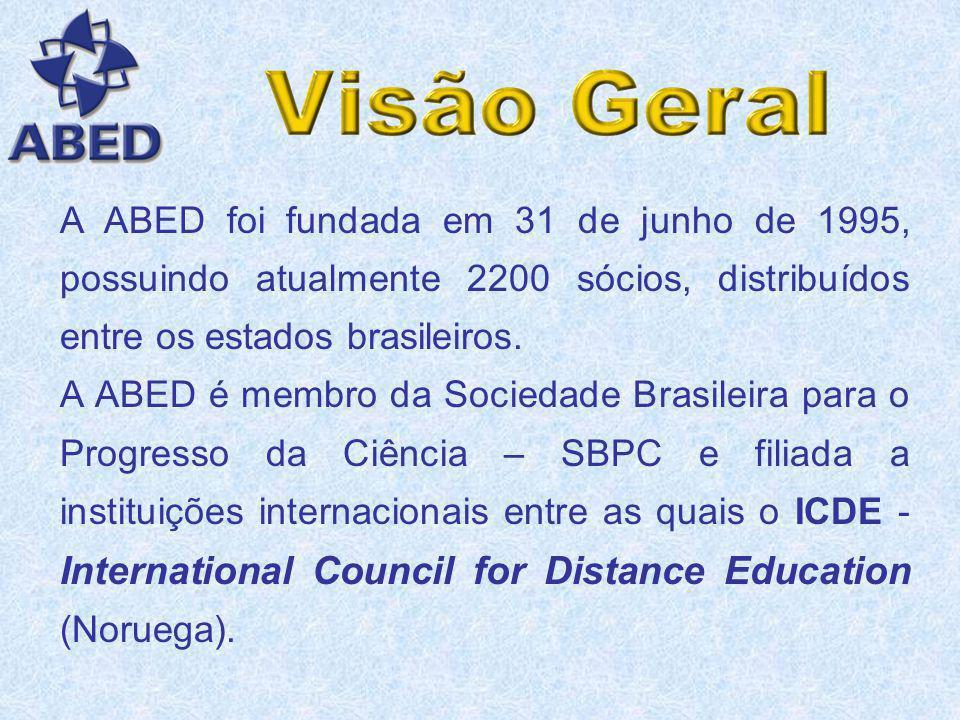A Associação Brasileira de Educação a Distância - ABED é uma sociedade científica, entidade civil sem fins lucrativos, que tem como finalidade o estud