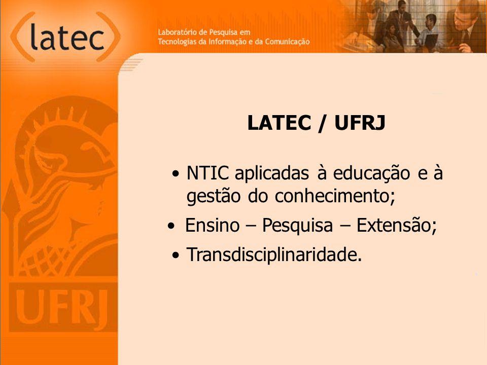 NTIC aplicadas à educação e à gestão do conhecimento; Ensino – Pesquisa – Extensão; Transdisciplinaridade.