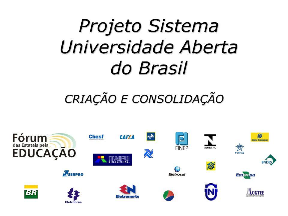 Projeto Sistema Universidade Aberta do Brasil CRIAÇÃO E CONSOLIDAÇÃO