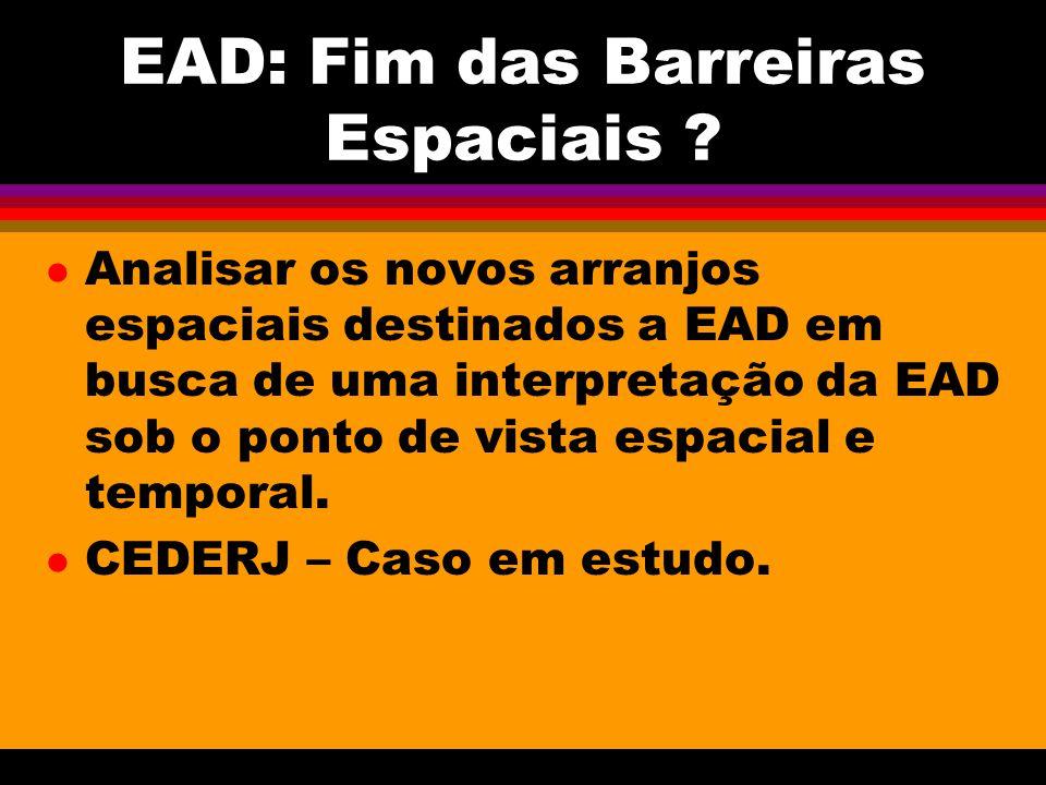 EAD: Fim das Barreiras Espaciais .