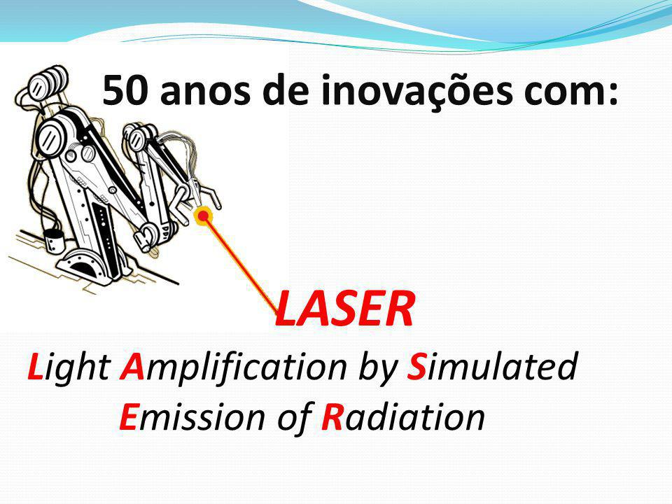 50 anos de inovações com: LASER Light Amplification by Simulated Emission of Radiation