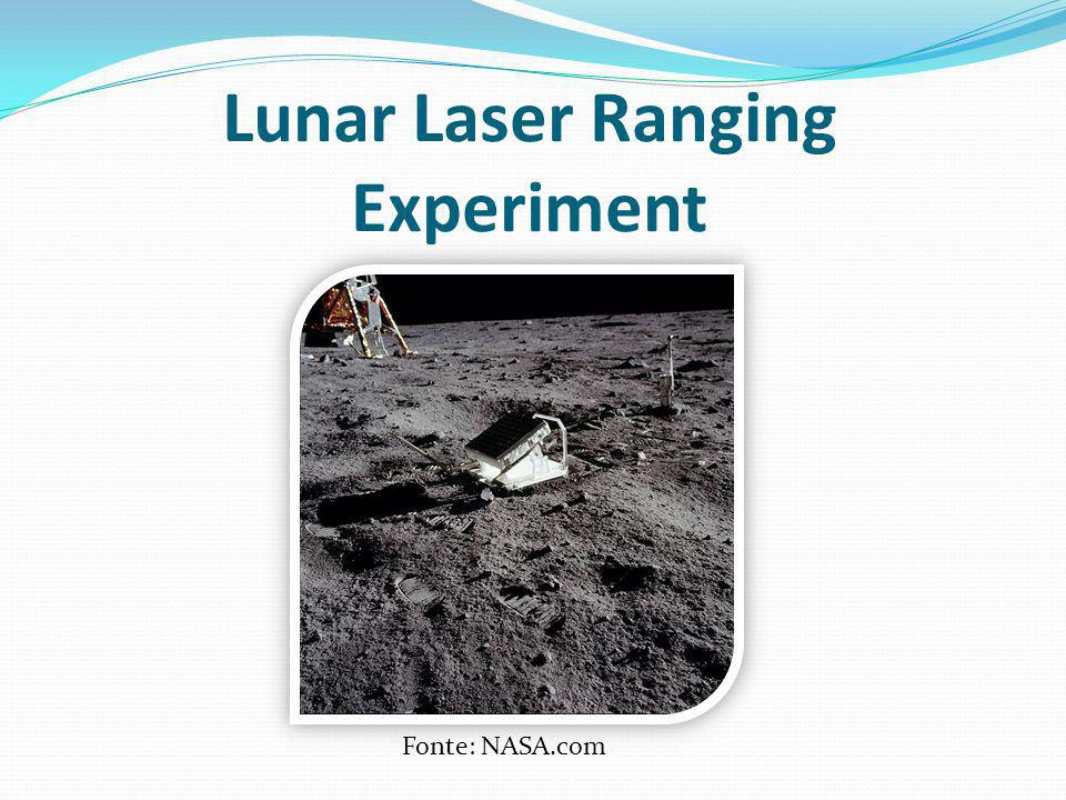 Lunar Laser Ranging Experiment Fonte: NASA.com
