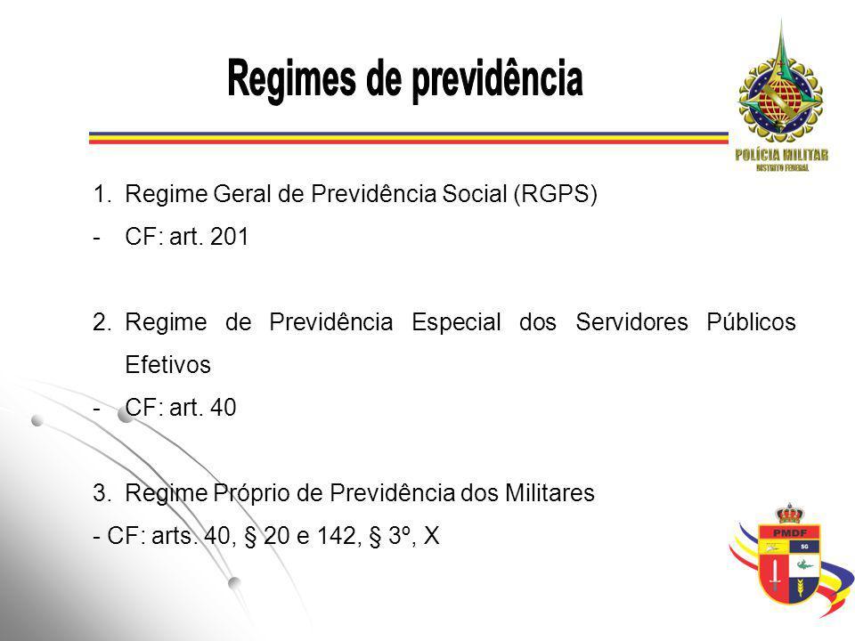 1.Regime Geral de Previdência Social (RGPS) -CF: art.