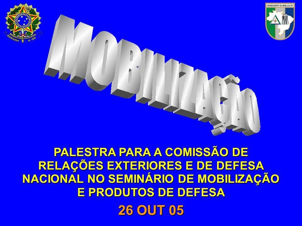 PROPORCIONAR AOS INTEGRANTES DA COMISSÃO DE RELAÇÕES EXTERIORES E DE DEFESA NACIONAL E AOS PARTICIPAN-TES DO SEMINÁRIO DE MOBILIZAÇÃO E PRODU- TOS DE DEFESA INFORMAÇÕES SOBRE O SISTEMA NACIONAL DE MOBILIZA-ÇÃO (SINAMOB).