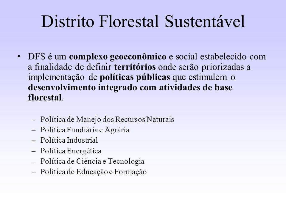 Distrito Florestal Sustentável DFS é um complexo geoeconômico e social estabelecido com a finalidade de definir territórios onde serão priorizadas a i