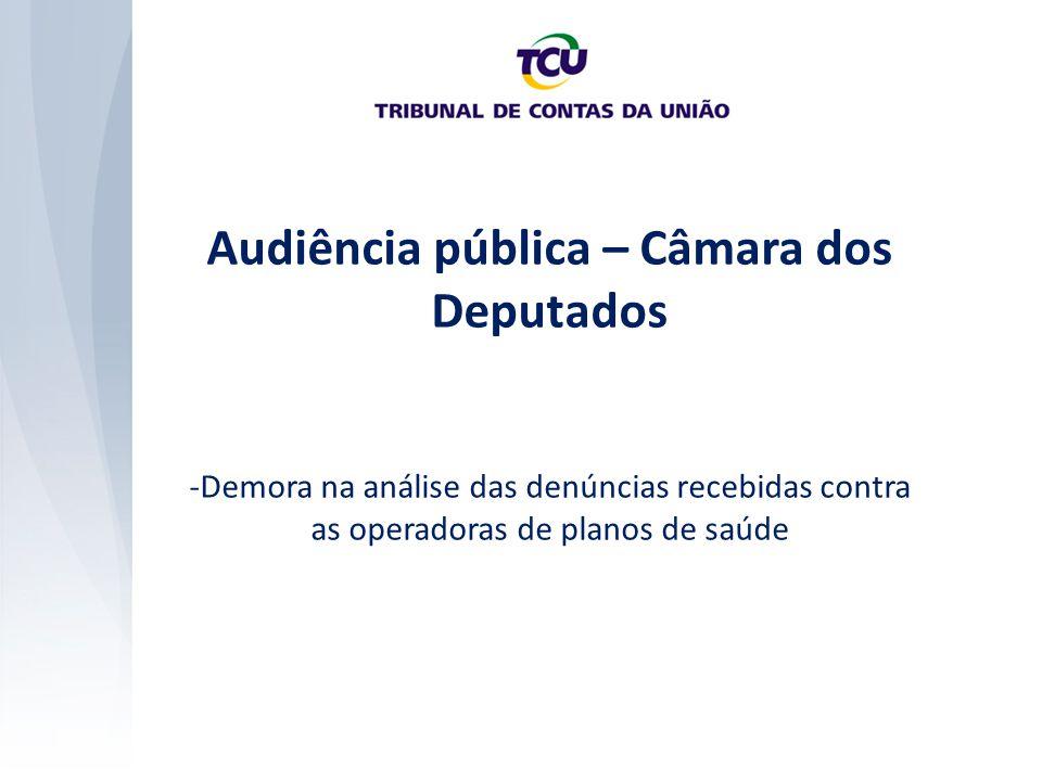 Audiência pública – Câmara dos Deputados -Demora na análise das denúncias recebidas contra as operadoras de planos de saúde