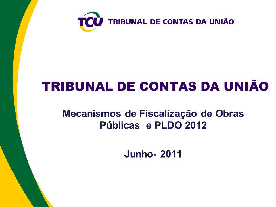 Auditoria de Obras Públicas Histórico Comissão Obras Inacabadas- Senado Federal (1995) Lei de Diretrizes Orçamentárias (1997) TRT/SP (2000) Comandos específicos para a fiscalização de obras