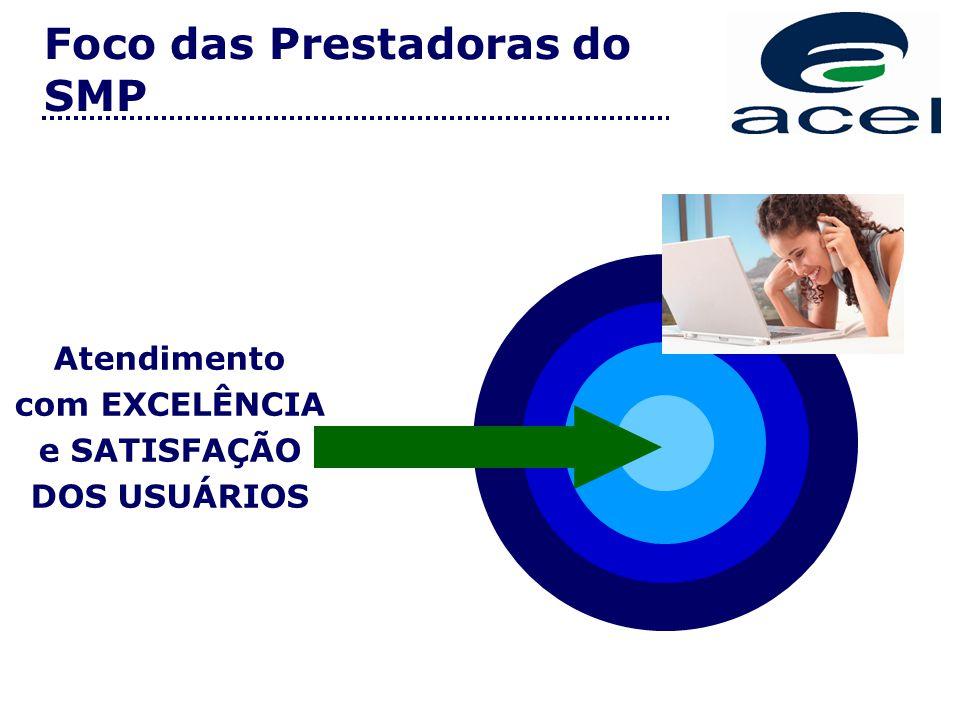Foco das Prestadoras do SMP Atendimento com EXCELÊNCIA e SATISFAÇÃO DOS USUÁRIOS