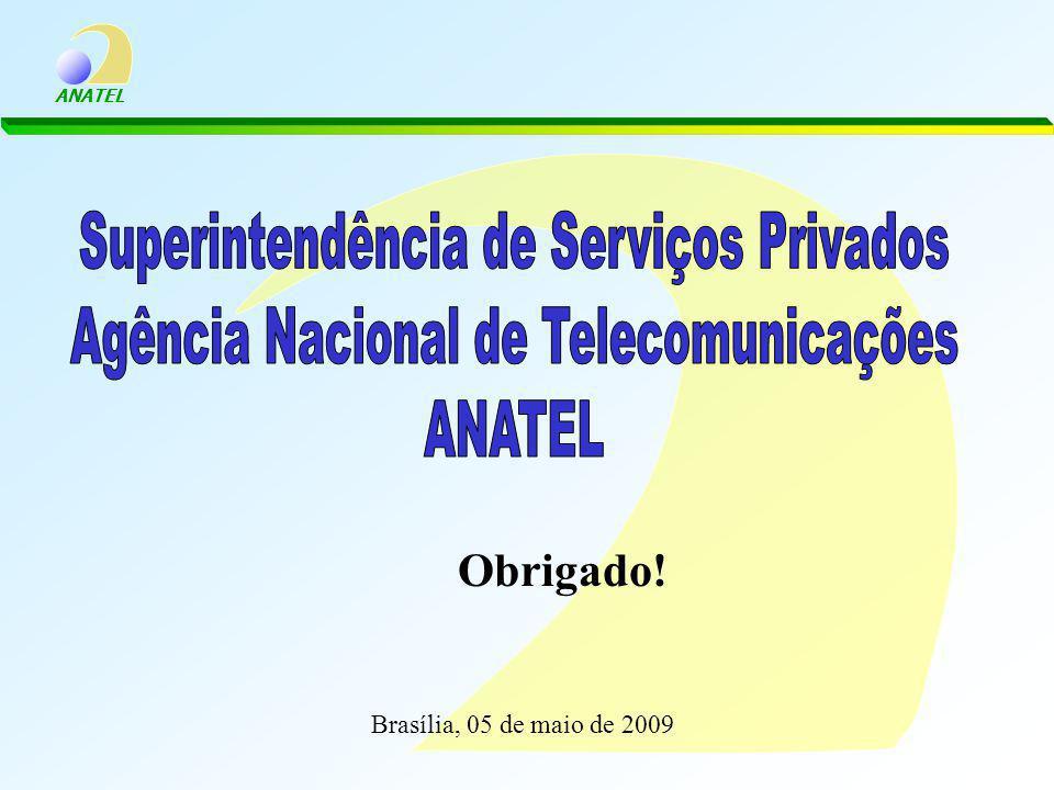 ANATEL Obrigado! Brasília, 05 de maio de 2009