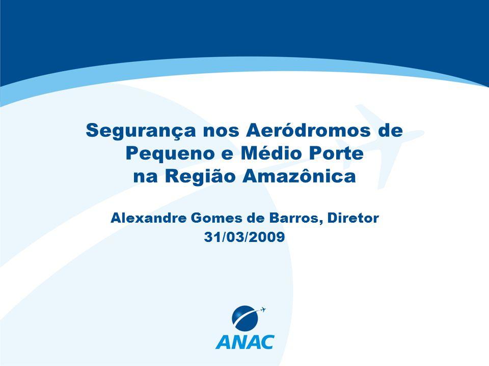 Segurança nos Aeródromos de Pequeno e Médio Porte na Região Amazônica Alexandre Gomes de Barros, Diretor 31/03/2009