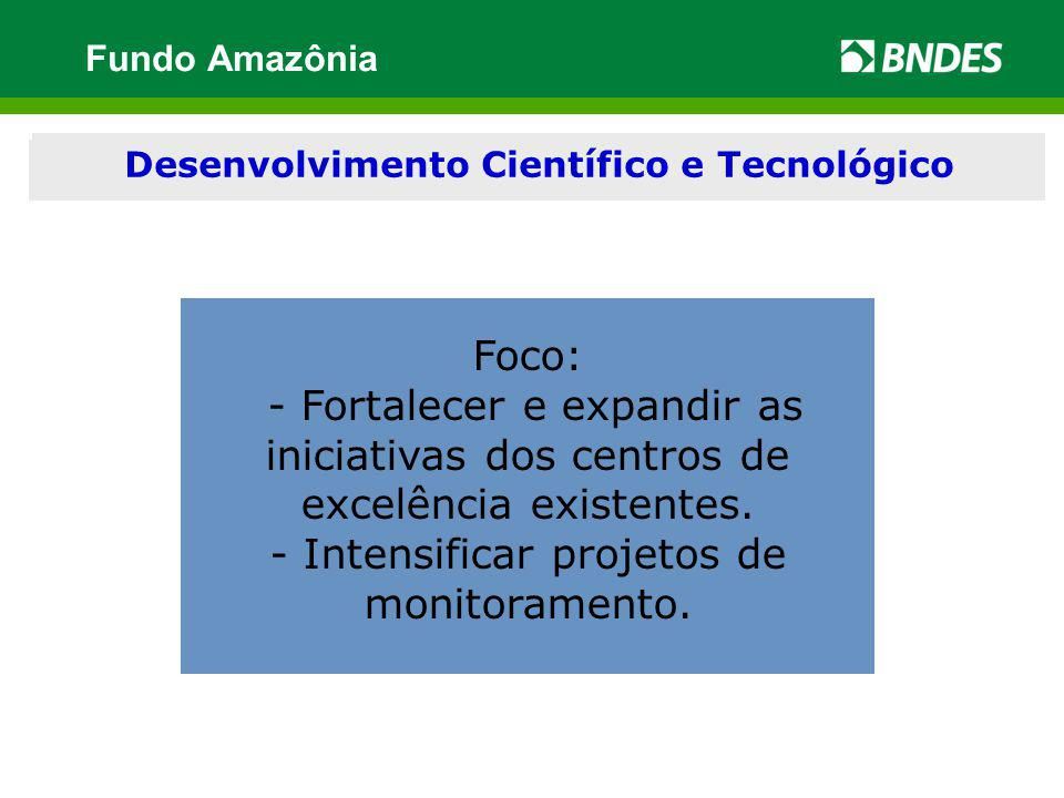 Modernização e desenvolvimento institucional Foco: - Fortalecer e expandir as iniciativas dos centros de excelência existentes. - Intensificar projeto