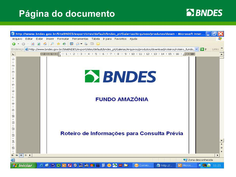 Página do documento