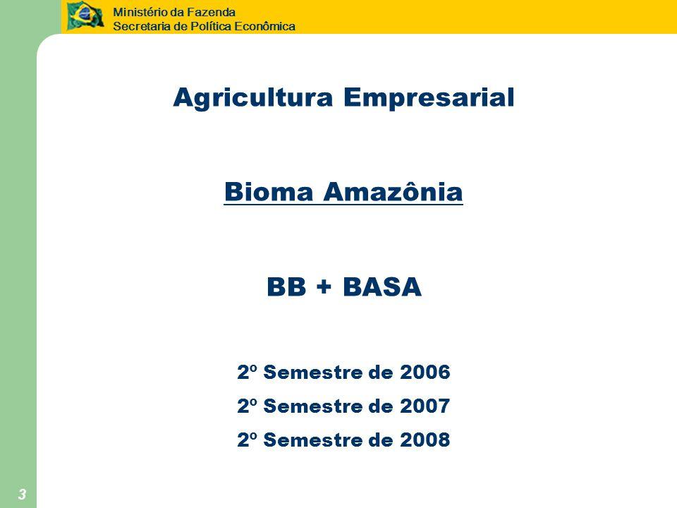 Ministério da Fazenda Secretaria de Política Econômica 24 Agricultura Familiar Pronaf A por UF 2º Semestre de 2006 2º Semestre de 2007 2º Semestre de 2008