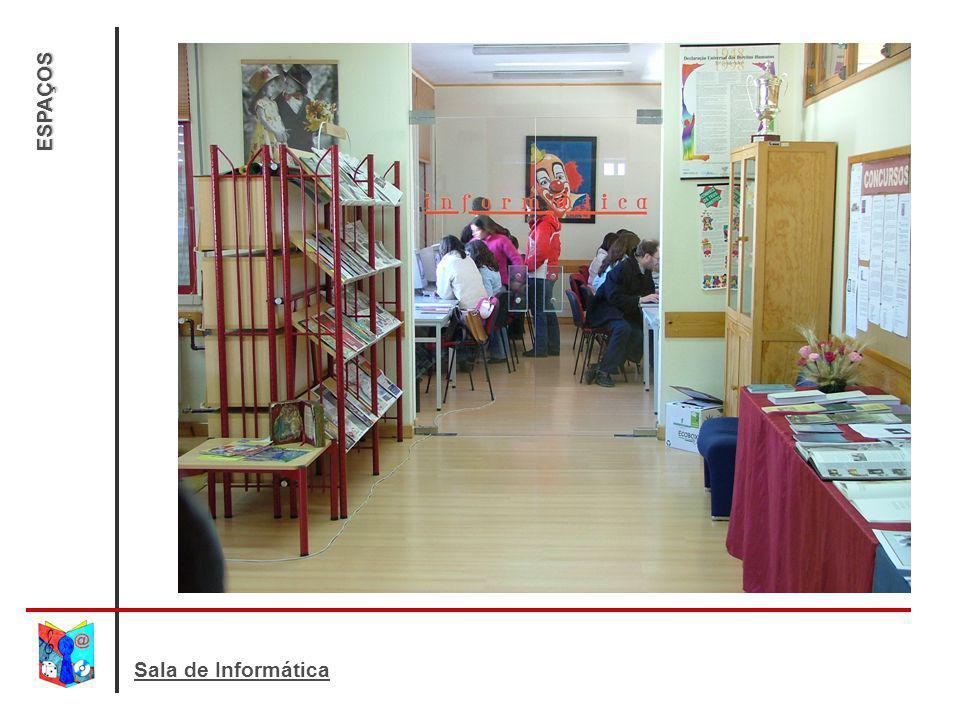 ESPAÇOS Aqui podes: navegar na Internet; digitar e imprimir trabalhos; trabalhar com programas e CD roms;
