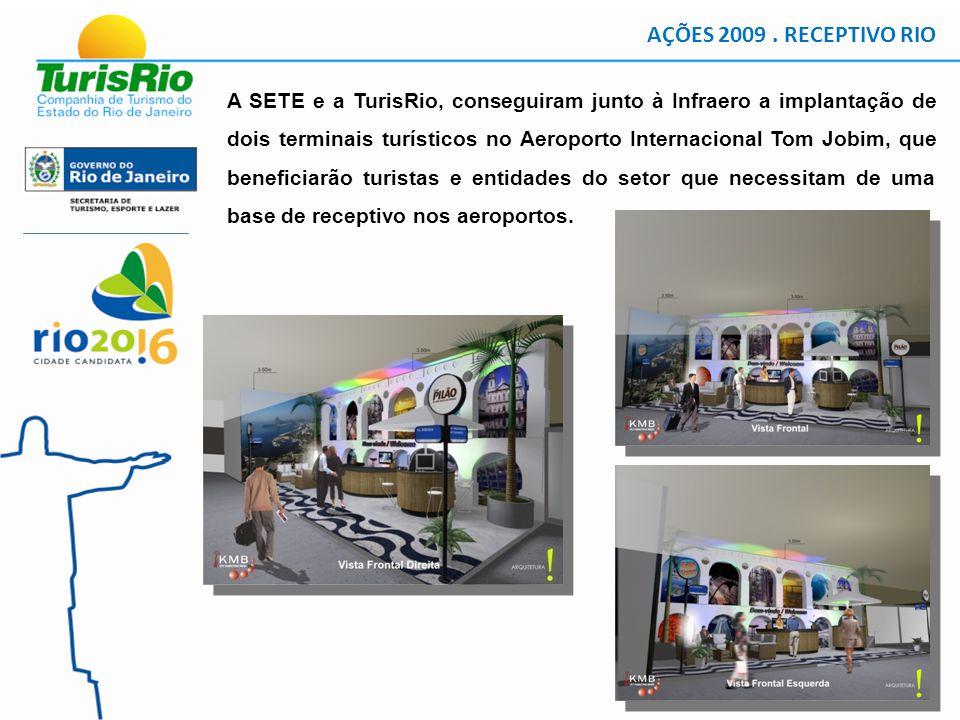 A SETE e a TurisRio, conseguiram junto à Infraero a implantação de dois terminais turísticos no Aeroporto Internacional Tom Jobim, que beneficiarão turistas e entidades do setor que necessitam de uma base de receptivo nos aeroportos.