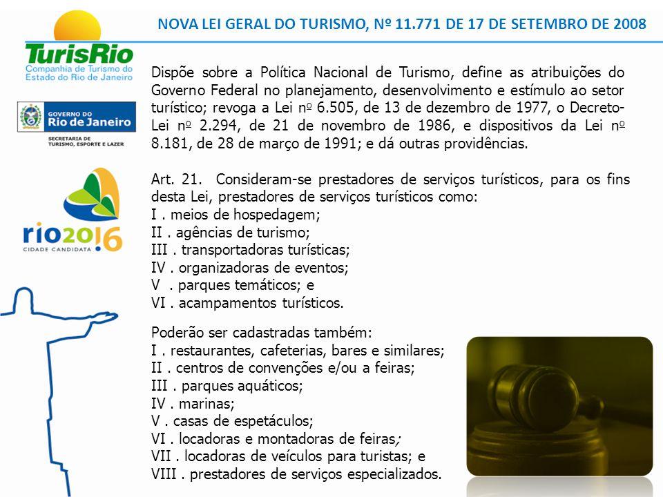 NOVA LEI GERAL DO TURISMO, Nº 11.771 DE 17 DE SETEMBRO DE 2008 Art.
