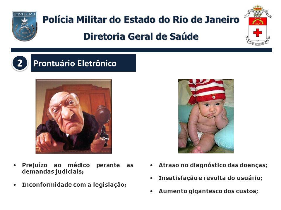 Polícia Militar do Estado do Rio de Janeiro Diretoria Geral de Saúde Prejuízo ao médico perante as demandas judiciais; Inconformidade com a legislação
