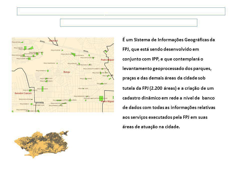 É um Sistema de Informações Geográficas da FPJ, que está sendo desenvolvido em conjunto com IPP, e que contemplará o levantamento geoprocessado dos pa
