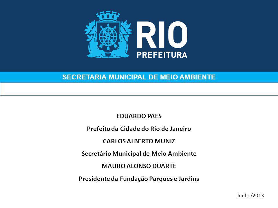 EDUARDO PAES Prefeito da Cidade do Rio de Janeiro CARLOS ALBERTO MUNIZ Secretário Municipal de Meio Ambiente MAURO ALONSO DUARTE Presidente da Fundaçã