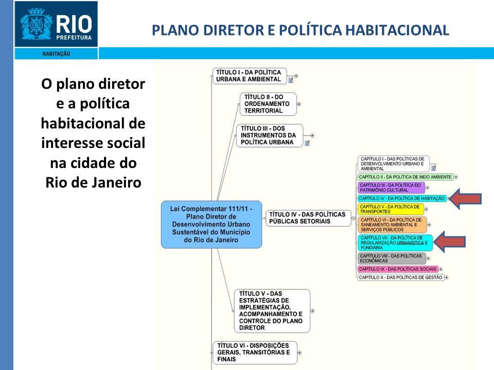 2 PLANO DIRETOR E POLÍTICA HABITACIONAL O plano diretor e a política habitacional de interesse social na cidade do Rio de Janeiro