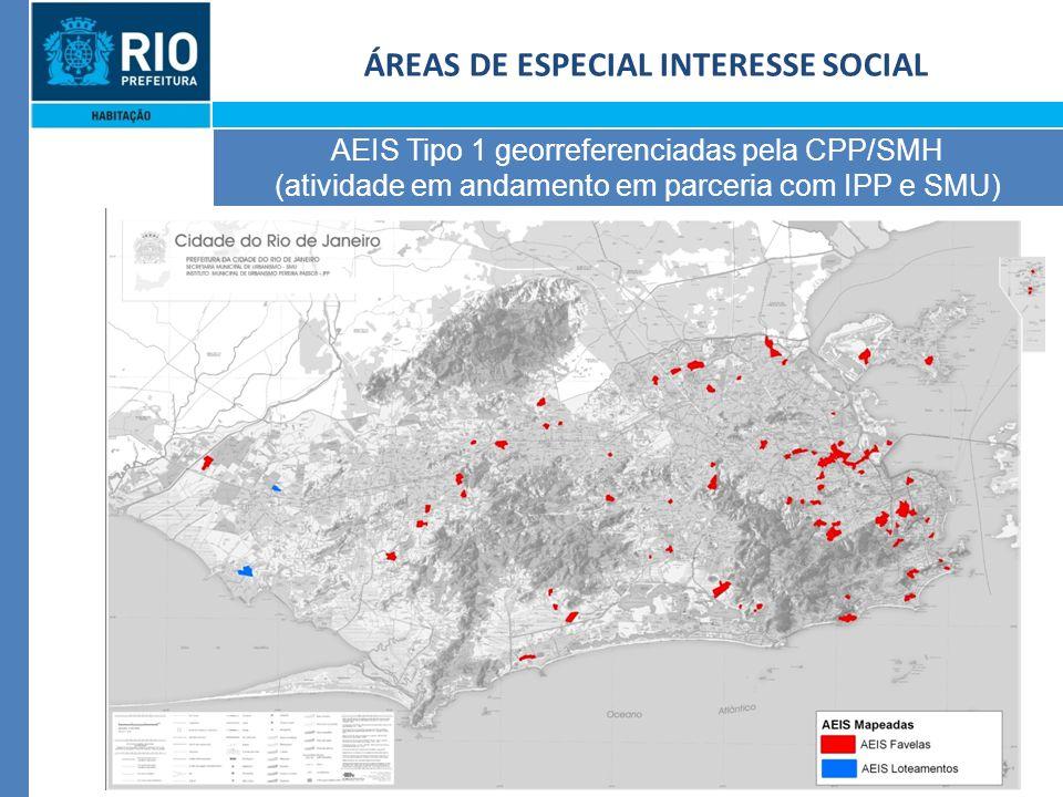 27 ÁREAS DE ESPECIAL INTERESSE SOCIAL AEIS Tipo 1 georreferenciadas pela CPP/SMH (atividade em andamento em parceria com IPP e SMU)