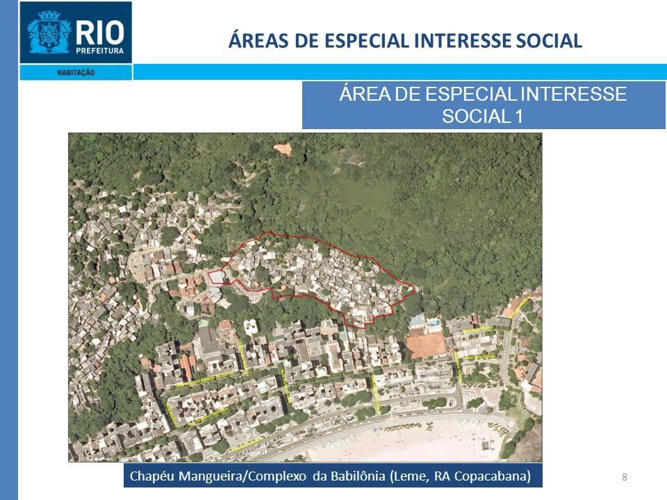 8 Chapéu Mangueira/Complexo da Babilônia (Leme, RA Copacabana) ÁREAS DE ESPECIAL INTERESSE SOCIAL ÁREA DE ESPECIAL INTERESSE SOCIAL 1