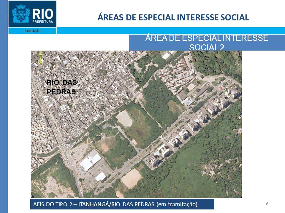 9 ÁREAS DE ESPECIAL INTERESSE SOCIAL ÁREA DE ESPECIAL INTERESSE SOCIAL 2 AEIS DO TIPO 2 – ITANHANGÁ/RIO DAS PEDRAS (em tramitação) MO RAD A DO ITA NHA NGÁ RIO DAS PEDRAS