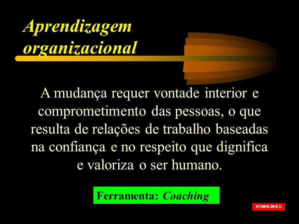 A mudança requer vontade interior e comprometimento das pessoas, o que resulta de relações de trabalho baseadas na confiança e no respeito que dignifica e valoriza o ser humano.