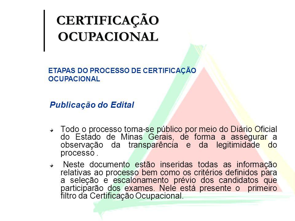 Publicação do Edital Todo o processo torna-se público por meio do Diário Oficial do Estado de Minas Gerais, de forma a assegurar a observação da trans