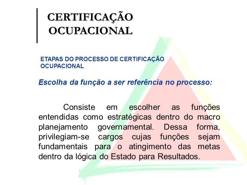 Criação da Comissão de Acompanhamento Composta por representantes da SEPLAG, da Entidade Certificadora e do órgão da área de atuação do cargo.