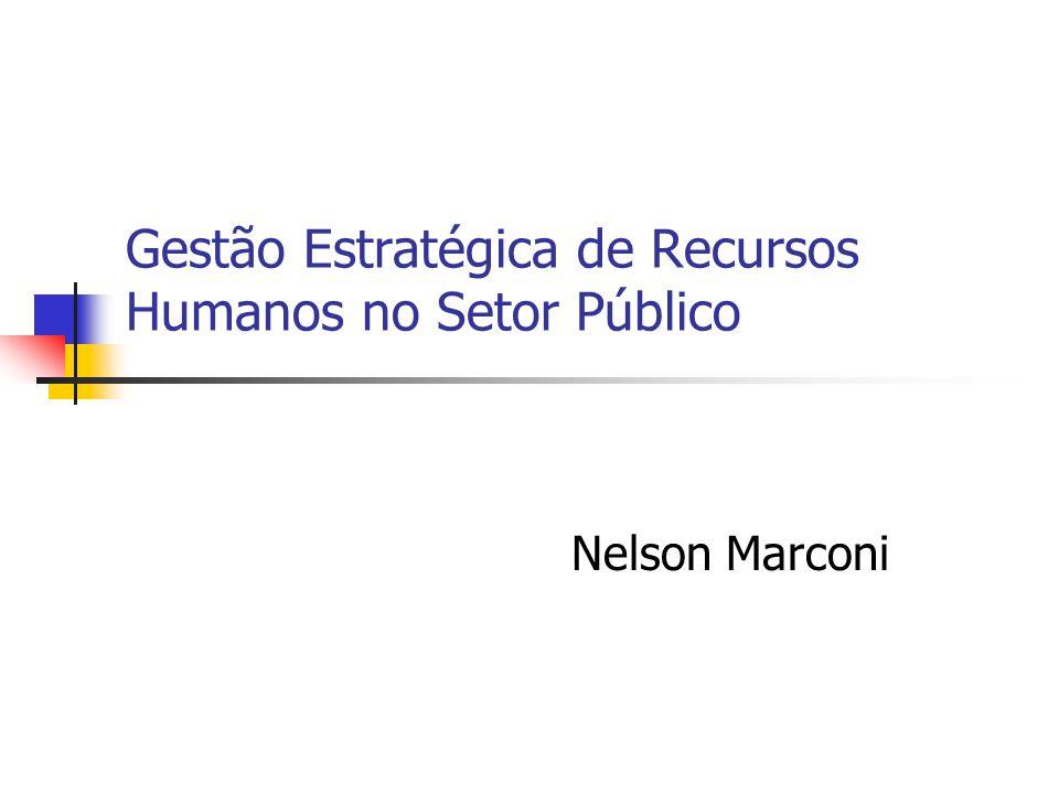 Gestão Estratégica de Recursos Humanos no Setor Público Nelson Marconi