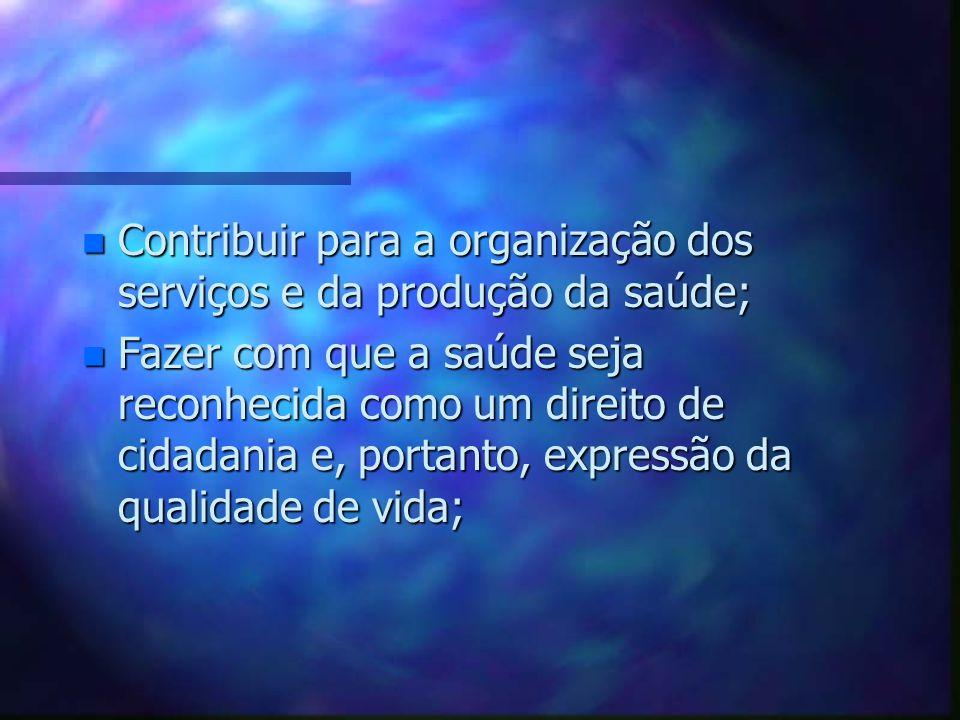 n n Formar agentes multiplicadores com a intenção de gerar a conscientização individual e coletiva (direitos e o exercício dos deveres com responsabil