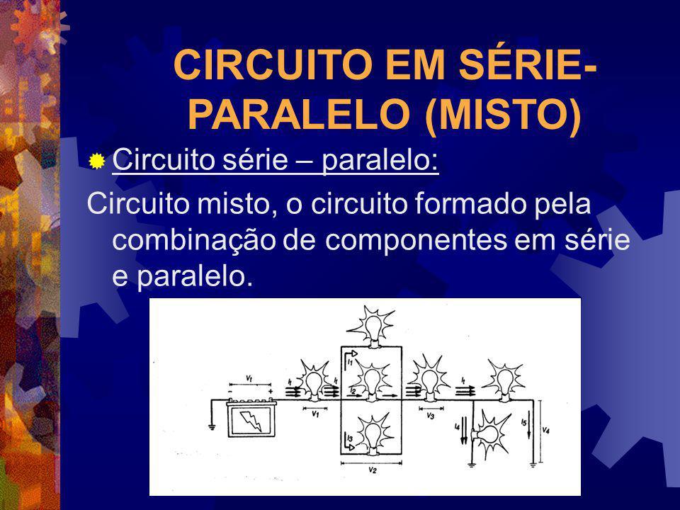 CIRCUITO EM SÉRIE- PARALELO (MISTO) Circuito série – paralelo: Circuito misto, o circuito formado pela combinação de componentes em série e paralelo.