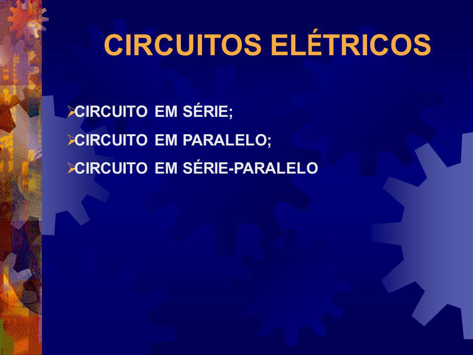 CIRCUITOS EL É TRICOS CIRCUITO EM SÉRIE; CIRCUITO EM PARALELO; CIRCUITO EM SÉRIE-PARALELO