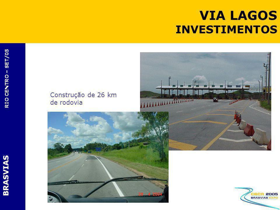 BRASVIAS RIO CENTRO – SET/05 Construção de 26 km de rodovia VIA LAGOS INVESTIMENTOS