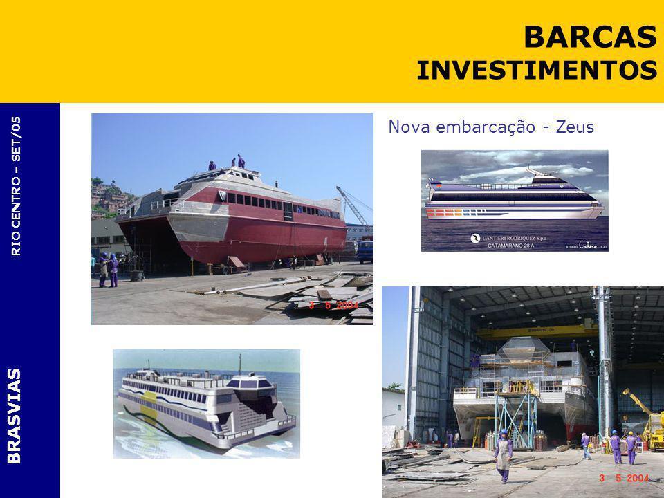 BRASVIAS RIO CENTRO – SET/05 Nova embarcação - Zeus BARCAS INVESTIMENTOS