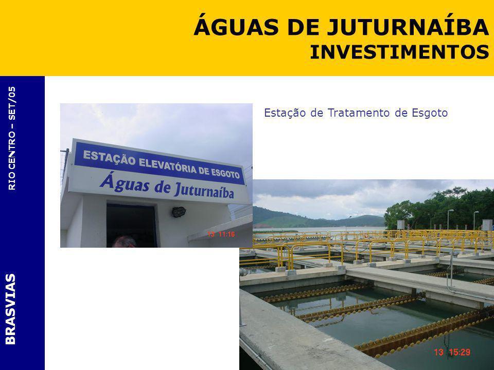 BRASVIAS RIO CENTRO – SET/05 Estação de Tratamento de Esgoto ÁGUAS DE JUTURNAÍBA INVESTIMENTOS