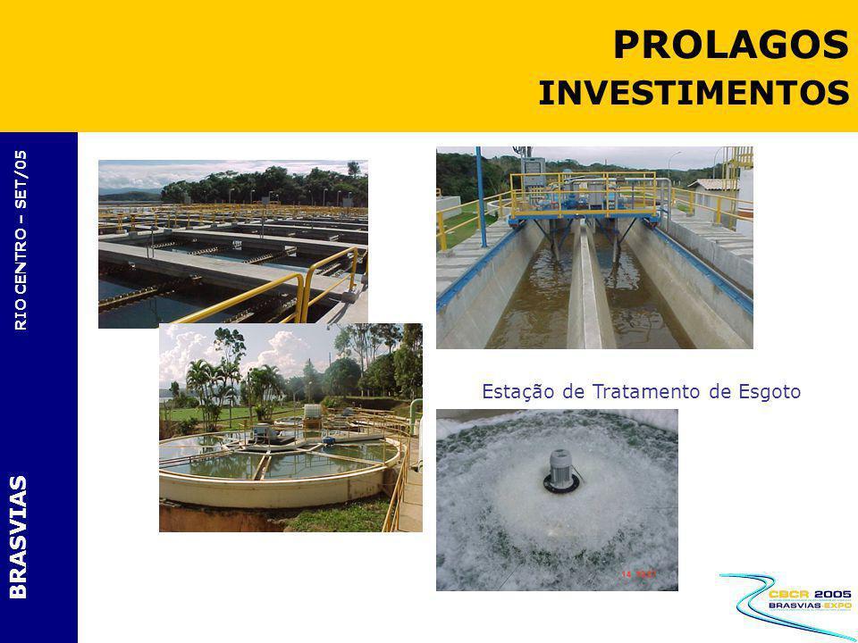 BRASVIAS RIO CENTRO – SET/05 Estação de Tratamento de Esgoto PROLAGOS INVESTIMENTOS