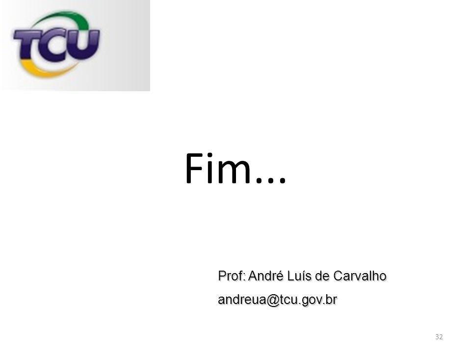 Prof: André Luís de Carvalho andreua@tcu.gov.br Fim... 32