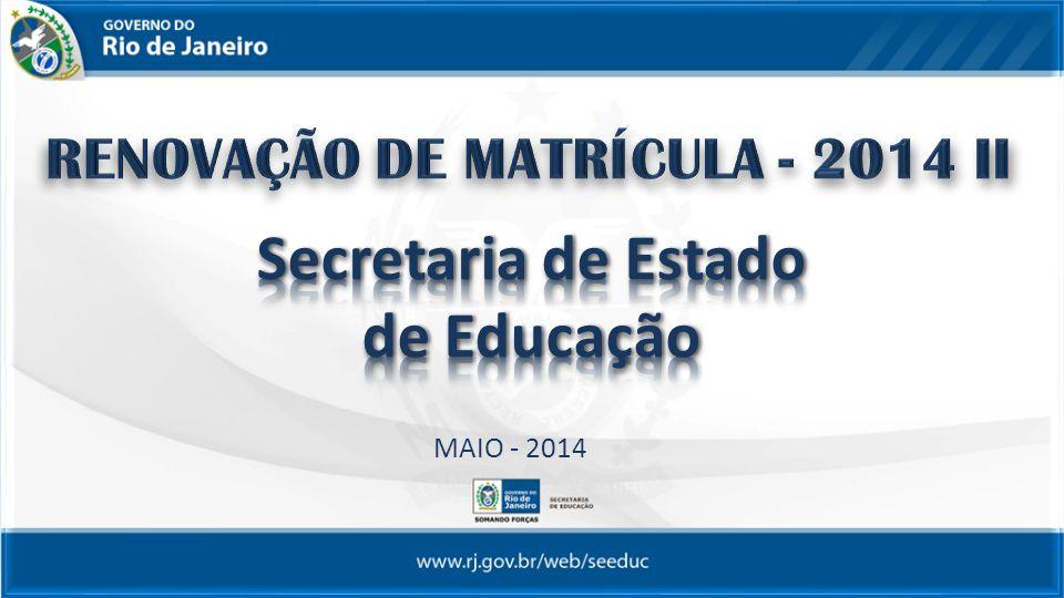 A RENOVAÇÃO DE MATRÍCULA consiste numa declaração formal do aluno ou seu responsável legal, no caso de menores de idade, do desejo em permanecer na mesma Unidade Escolar.