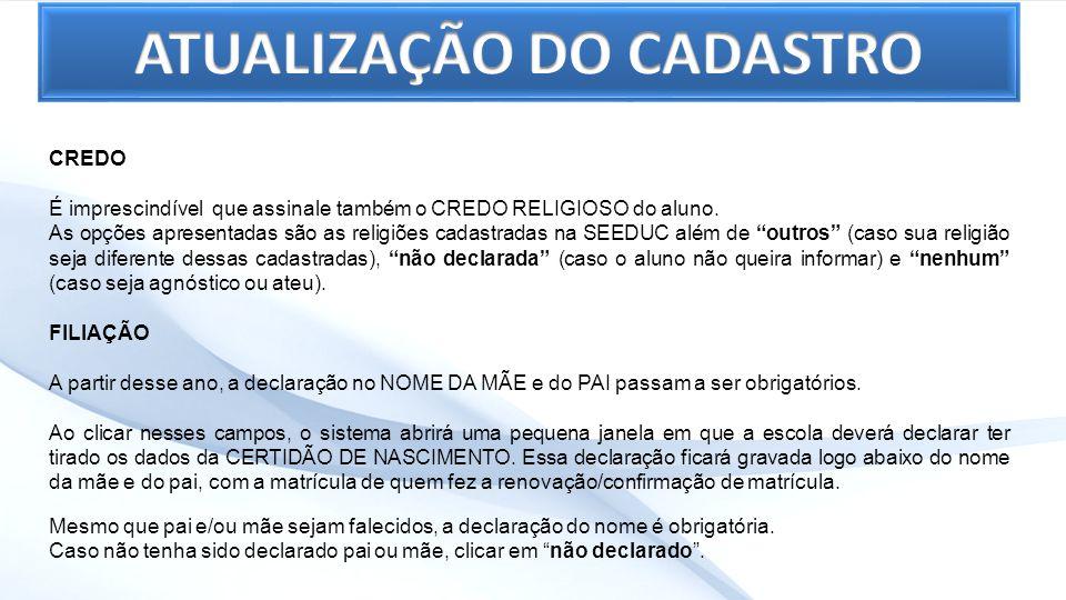 1º PASSO – Na aba Gestão Escolar, no Sub-grupo Alunos, selecione a opção Renovação de Matrícula para visualizar a tela de pesquisa.