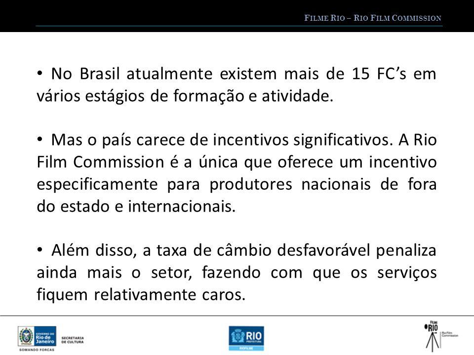 F ILME R IO – R IO F ILM C OMMISSION No Brasil atualmente existem mais de 15 FCs em vários estágios de formação e atividade.