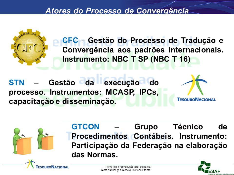 Permitida a reprodução total ou parcial desta publicação desde que citada a fonte. CFC - Gestão do Processo de Tradução e Convergência aos padrões int
