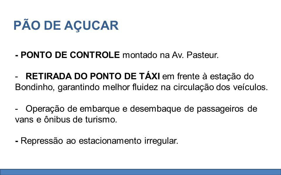 - PONTO DE CONTROLE montado na Av. Pasteur.