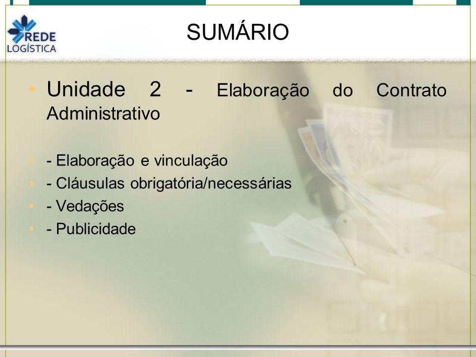 Unidade 1 Contratos Administrativos – abordagem teórica Art.