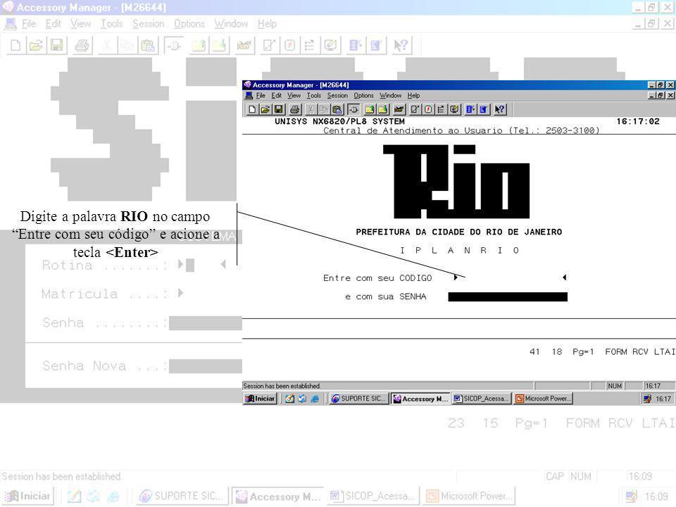 Para acessar o SICOP clique 2 vezes no ícone do INFOconnect na área de trabalho do seu micro.