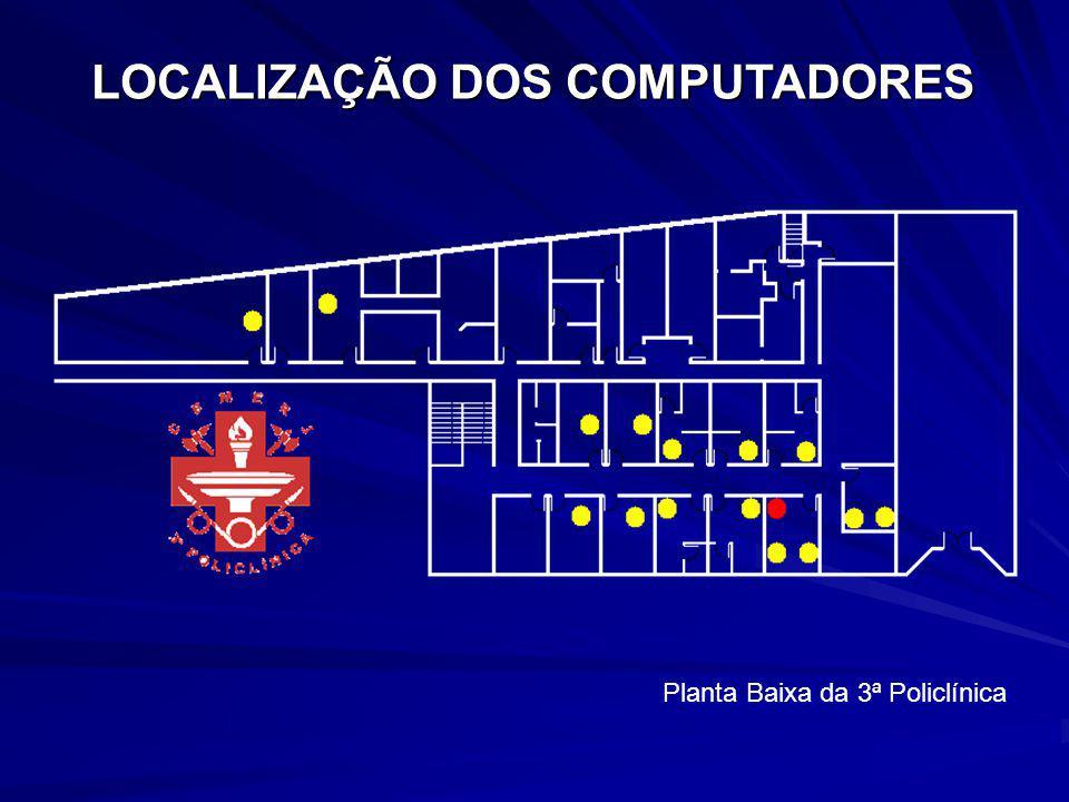 LOCALIZAÇÃO DOS COMPUTADORES Planta Baixa da 3ª Policlínica