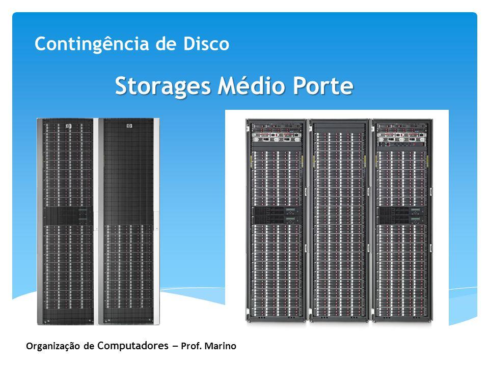 Organização de Computadores – Prof. Marino Contingência de Disco Storages Médio Porte